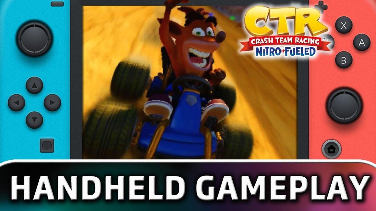Crash Team Racing Nitro-Fueled | 10 Minutes in Handheld MODE on Nintendo Switch