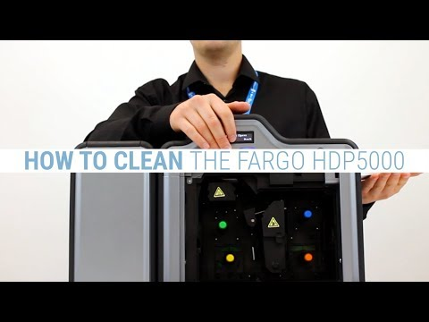 How to Clean the Fargo HDP5000 ID Card Printer