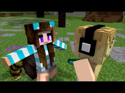 Minecraft Song ♫Die For You♫  1 HOUR / Hacker Saves Lilly Minecraft Song And Animation