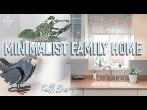 Day In The Life Minimalist Family Home - Minimalist Fall Decorate With Me 🍁