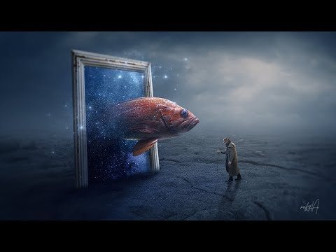 Fantasy Fish Out Of Frame Photo Manipulation Photoshop Tutorial