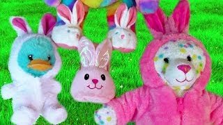Build A Bear Easter Special Haul Pink White Bunny Plush Outfits