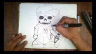 How to draw graffiti skull character    Como dibujar una Calavera de graffiti