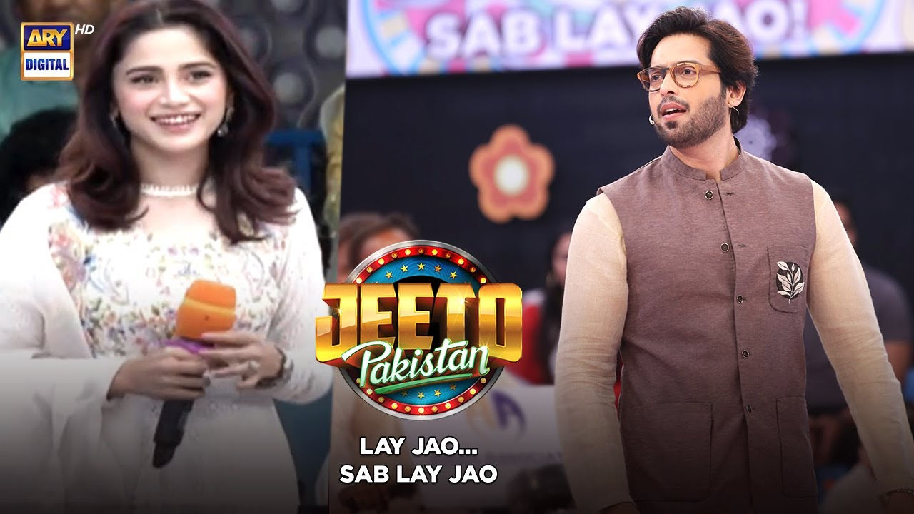 Download The Gorgeous & Stylish Aima Baig is in Jeeto Pakistan   Fahad Mustafa