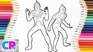 Ultraseven Dark, Ultraman Dark Coloring Pages, How to Color Ultraman Coloring Pages Kids Fun