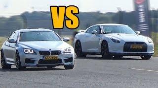 BMW M6 vs Nissan GTR R35 - DRAG RACE!