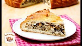 Пирог с курицей и грибами | Рецепт