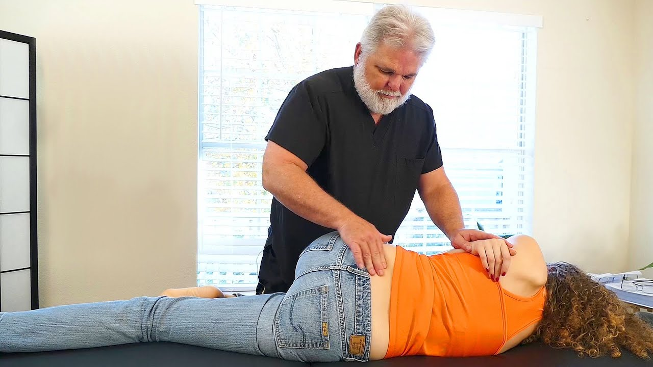 Chiropractic Adjustment For Low Back Pain  U0026 Leg Pain  Sciatica  Hip  U0026 Pelvis Chiro Demo