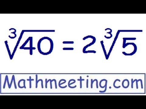 Simplifying Cube Roots Perfect Cubes And Harder Examples Youtube
