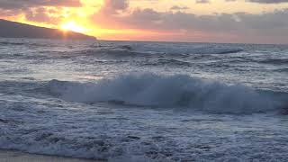 Azoren - São Miguel - Ondergaande zon bij Santa Barbara