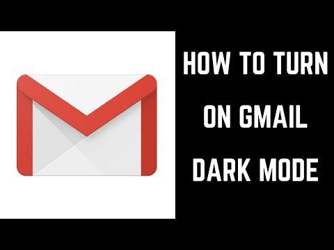 How to Turn on Gmail Dark Mode