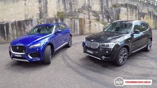 Jaguar F-PACE 30d vs BMW X3 xDrive30d: SUV comparison (POV)