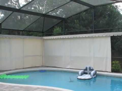 Absolute outdoor privacy apopka fl youtube for Privacy pool screen