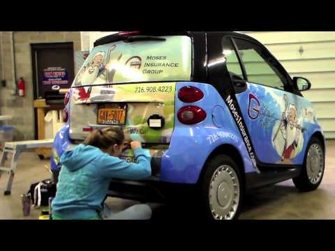 Moses Insurance Group - Smart Car Wrap