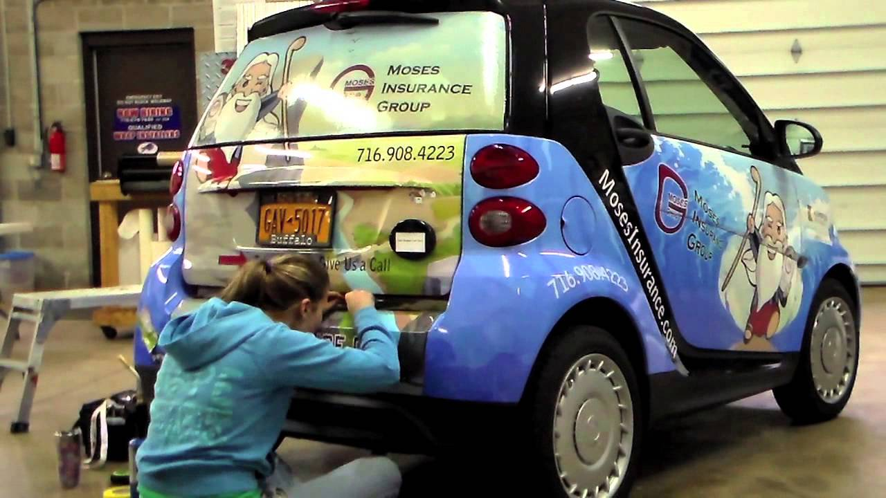 Moses Insurance Group Smart Car Wrap Youtube