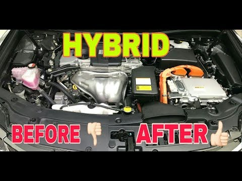 How to Clean Engine Bay of TOYOTA CAMRY HYBRID BEFORE&AFTER by Auto Strada Detailing Houz 2017
