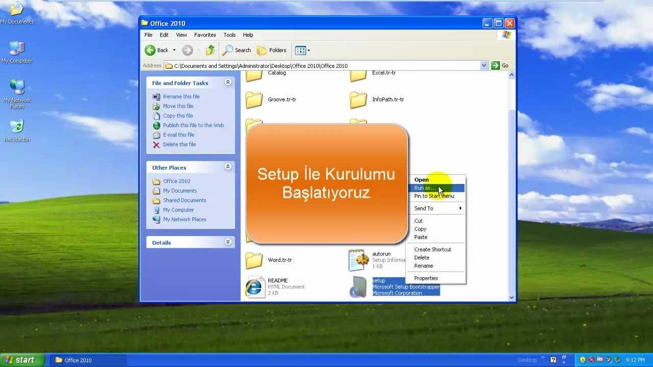 Xp Service Pack 3 & Microsoft Office 2010 Kurulumu