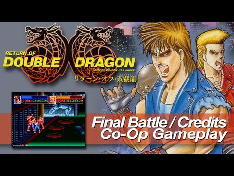 Return of Double Dragon (SFC) - Final Battle + Credits (CoOp)