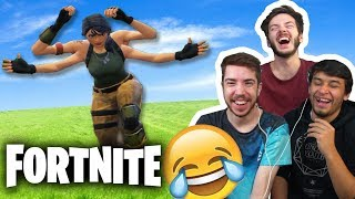 REACTIONS TO FORTNITE HILARIOUS MOMENTS! #6