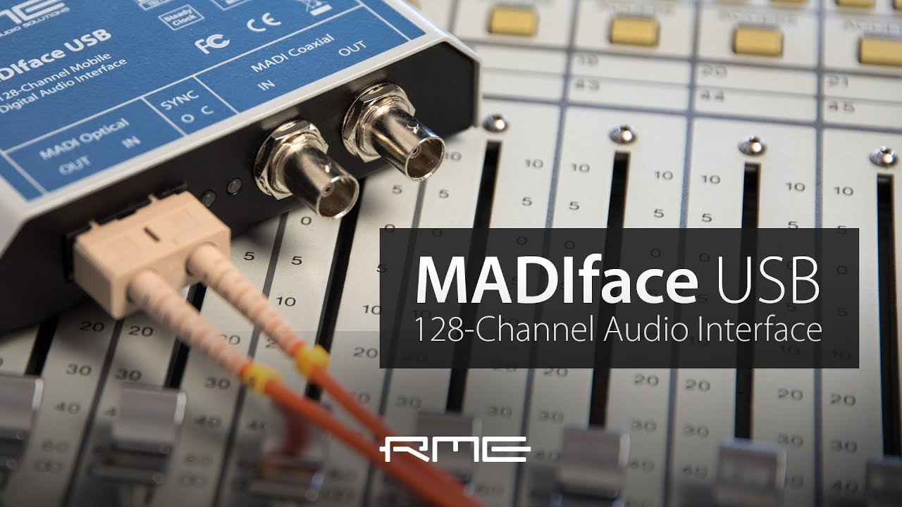 128-Channel RME MADIface USB Audio Interface Overview