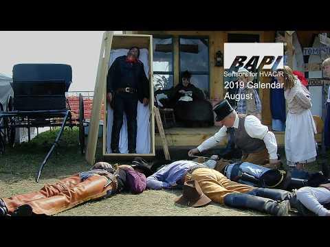 BAPI 2019 Calendar, August - Wild West Days