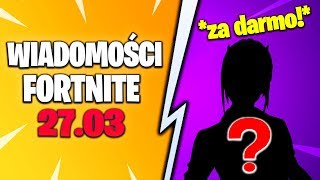 FORTNITE NEWS 27.03 * ANOTHER SKIN FOR FREE from EPIC GAMES! BUSES RESURRECTING RECORDED! SMARTE
