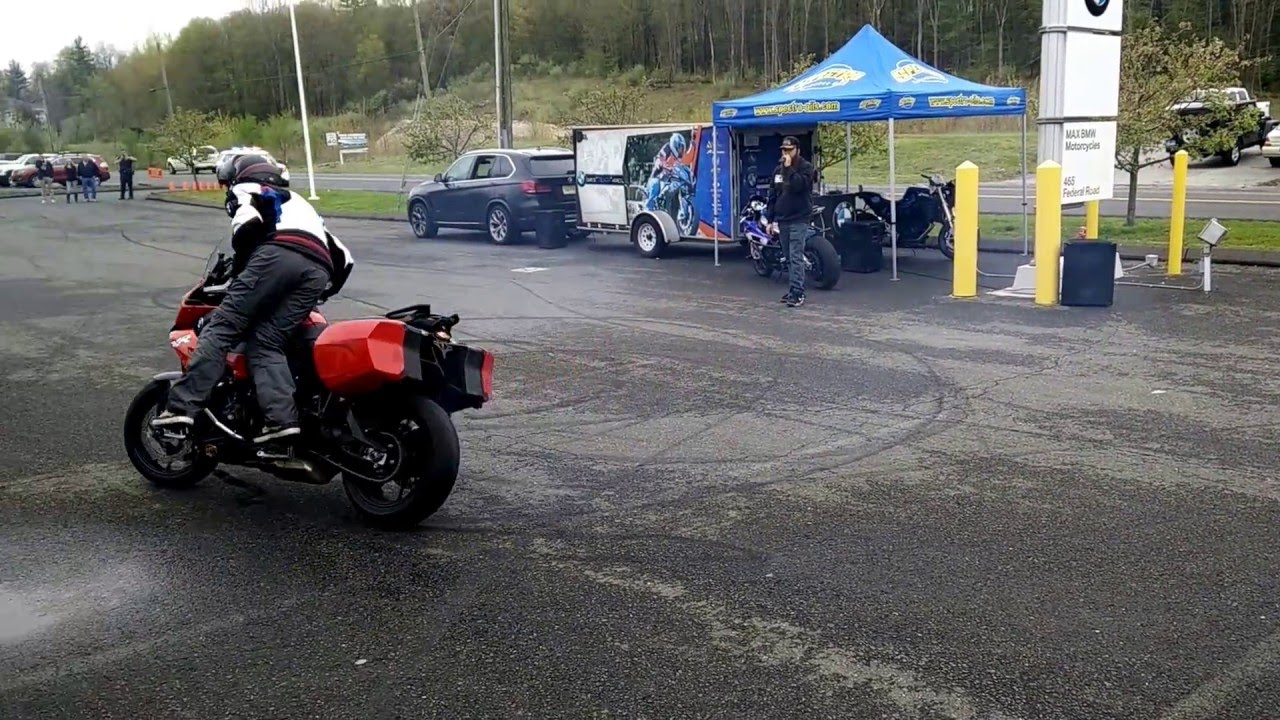 BWM S1000XR stunt demo part 1  Chris Teach McNeil  Max BMW in