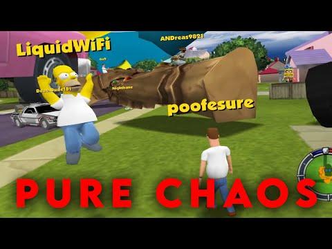 Simpsons: Hit & Run Online CHAOS W/ Poofesure