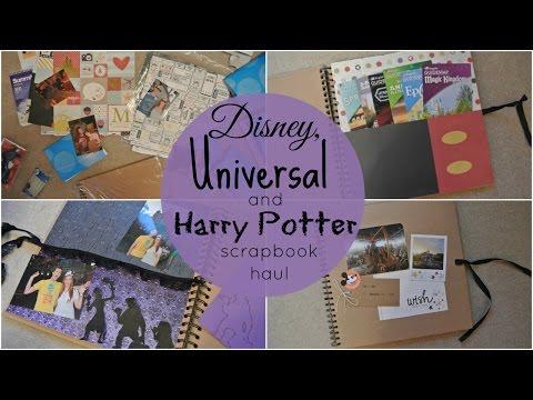 DISNEY, UNIVERSAL & HARRY POTTER SCRAPBOOKING HAUL /♥/ fleur_charms