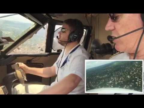 L410 Landing Bangui