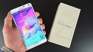 Samsung Galaxy Note 4: Unboxing & Review(Detailed unboxing and complete feature walkthrough of the Samsung Galaxy Note 4 with benchmarks, camera samples, and comparisons to the Note 3., 2014-10-11T11:19:17.000Z)