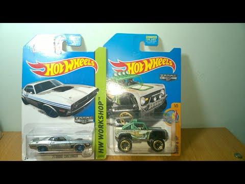 REVIEW: Xe mô hình Hotwheels Zamac, Dodge Challenger, Pickup Bronco 1/64