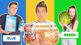 Last to STOP Eating Their COLOR Food Wins $10,000 Challenge **BAD IDEA** 💙🧡💚 | Gavin Magnus