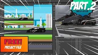 part2 - cara mudah membuat animasi lamborghini dan kota jakarta (Subscribe & download Filenya)