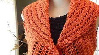 Repeat youtube video Bolero Chaleco Mandarina Crochet parte 1 de 3