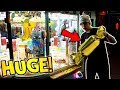 THE BIGGEST CANDY CLAW MACHINE EVER!