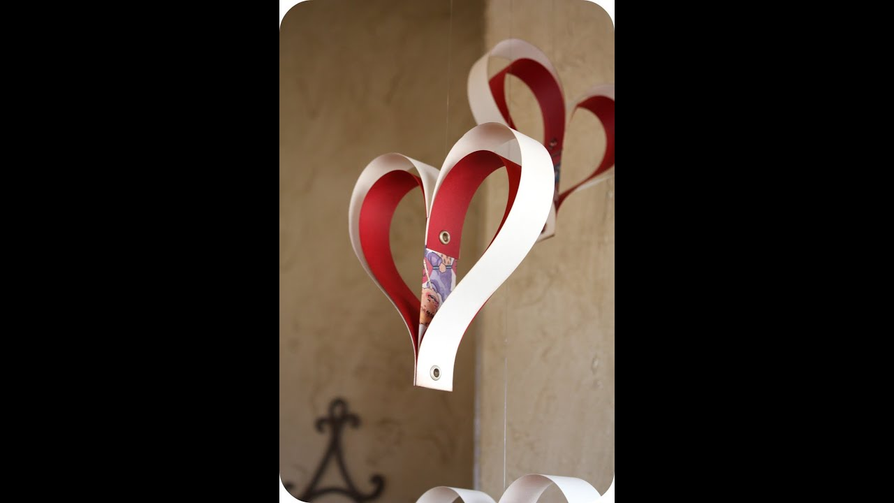 Heart Shape Cake Decoration At Home : Paper heart decoration - YouTube