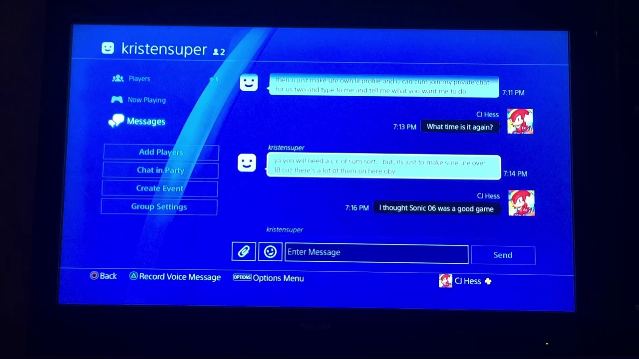 PlayStation Message Scammer!