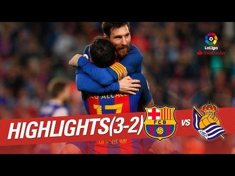 Resumen de FC Barcelona vs Real Sociedad (3-2)