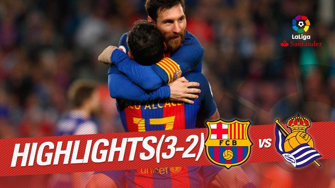 Барселона - Реал Сосьедад 3:2 видео