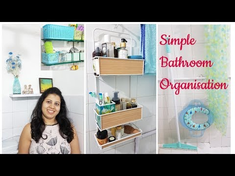 Small Bathroom Organization | Indian Bathroom Storage Ideas |