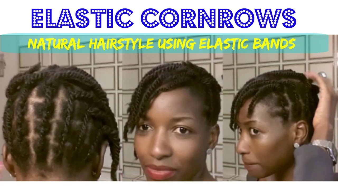 Elastic Cornrows Rubber Bands For Natural Hairstyles Protective Style Short Hair You