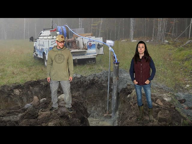 NOT The Original PLAN | Installing the WELL Pump and Water Line at Our OFF-GRID Tiny House Build