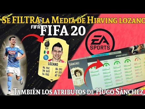 La Valoración (Media) de Hirving Lozano en FIFA 20 y los Atributos de Hugo Sánchez en FIFA 20 - 동영상