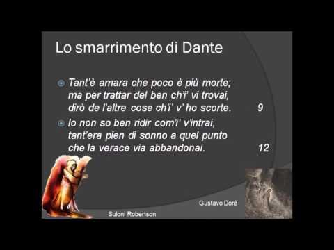 La Divina Commedia, Inferno, Canto I, vv  1-45