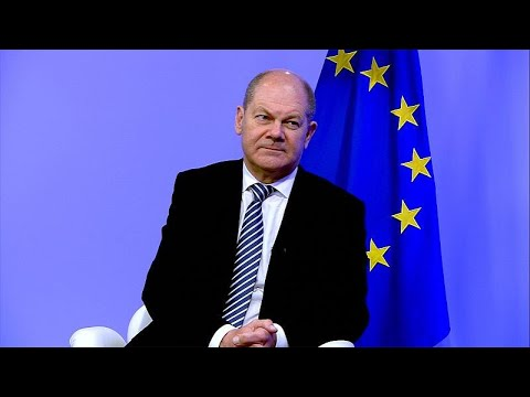 German Finance Minister Olaf Sholz talks about Europe's economic future