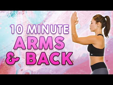 10 Minute Workout for Toned Arms & Back, How to Lose Arm Fat! At Home, Beginners | Eliz Fitness