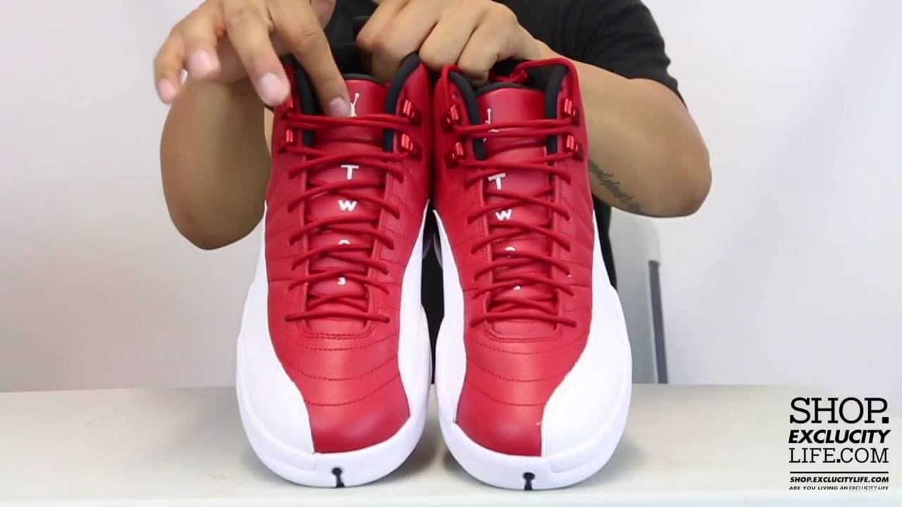 sports shoes be499 810e0 Air Jordan 12 Retro Gym Red White On feet Video at Exclucity