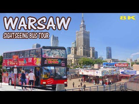 WARSAW - CITY SIGHTSEEING BUS TOUR 2018 8K