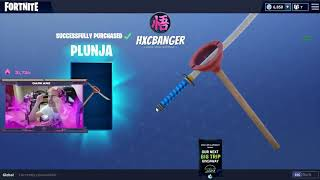 Ninja REACTS TO GETTING HIS OWN FORTNITE PICKAXE